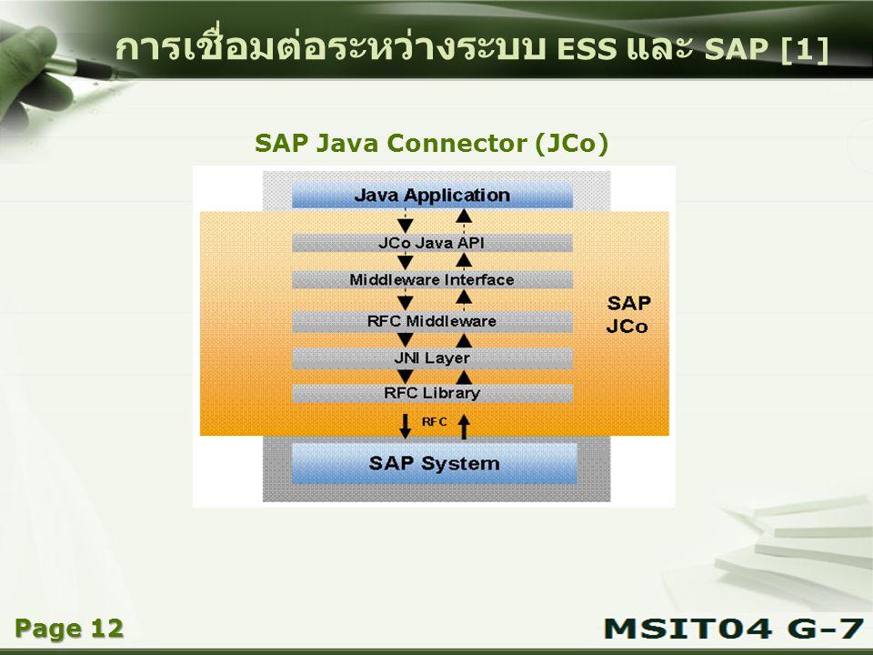 การเชื่อมต่อระหว่างระบบ ESS และ SAP [1]